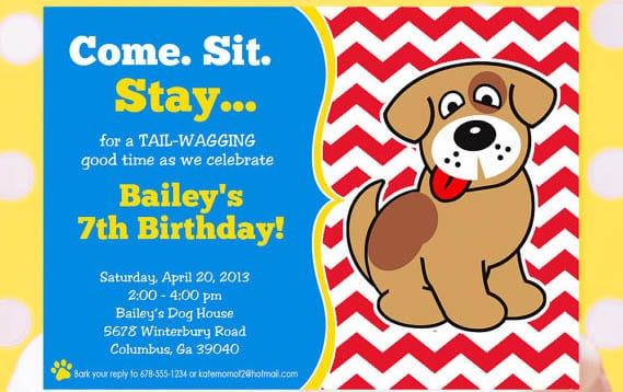 dog bithday invitation